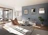 Wohnzimmer mit Zugang zu Loggia